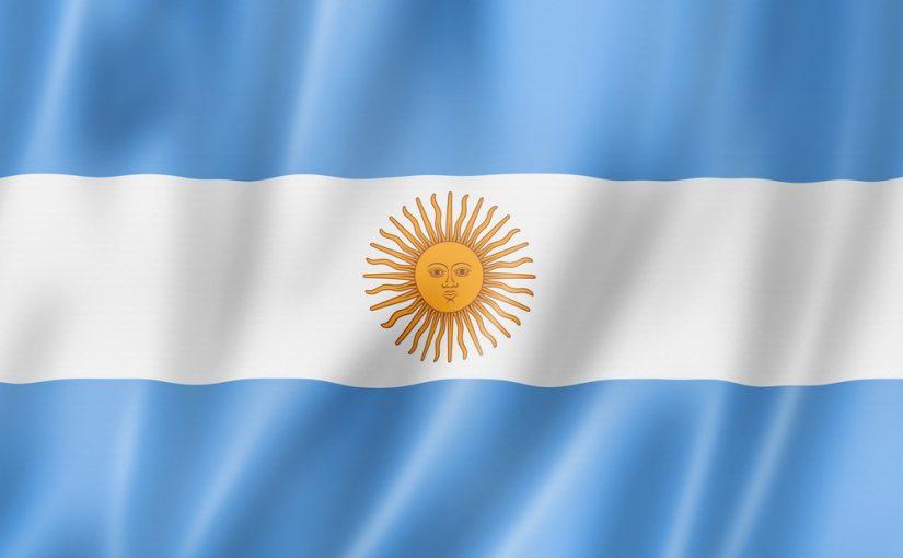 Argentinsk flag der blafrer VM 2018